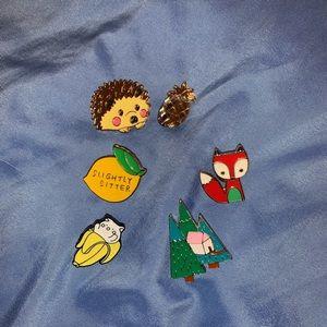 Enamel pin set